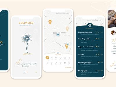Edelweiss App - iPhone X iphone x paris gourmet app mobile