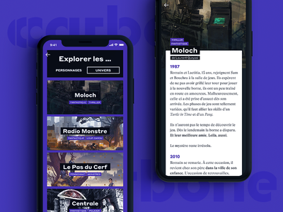 Carbone App interaction mobile app comics fictions