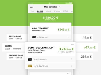 Bank app Cards bank bank account ux ui design card ios app mobile