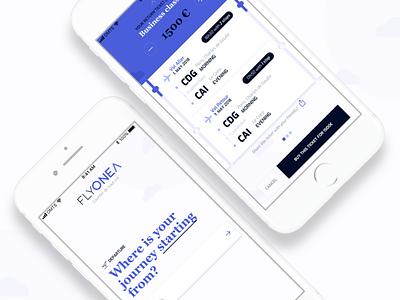 Flyonea Mobile UI pwa mobile app ux design ui flight airport airplane ticket
