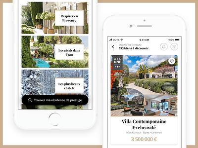 Real Estate Mobile App design mobile app mobile luxury real estate