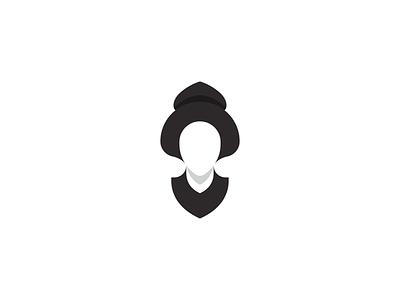 Geisha 2 - logo gridding grid japan branding brand symbol trademarks symbols logo geisha