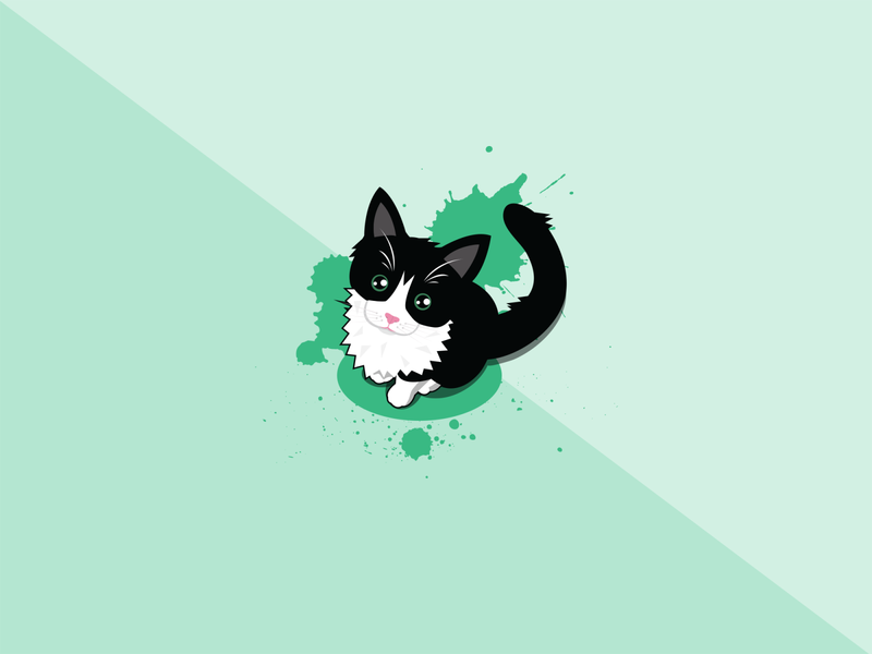 Kitten Portrait illustration design