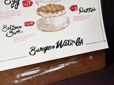 Burger With The Lot: Part 2 typography print marketing illustration food burger