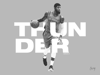 There's no rain or thunder in sight for Oklahoma City. email sport shoes mask cut out photo black and white profile lazy nba typography design basketball