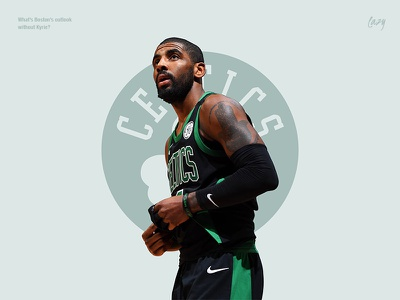 What's Boston's outlook without Kyrie? portrait player boston design basketball poster minimal nba