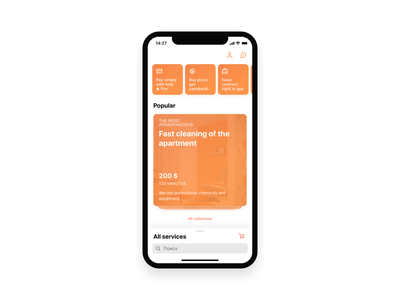Garmonia - Cleaning App service cleaning ux mobile ui ios mobile