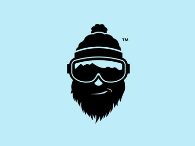 Smokey's Ski Adventures winter smirk toque classic modern hipster beard crisp simple clean logo snowboard