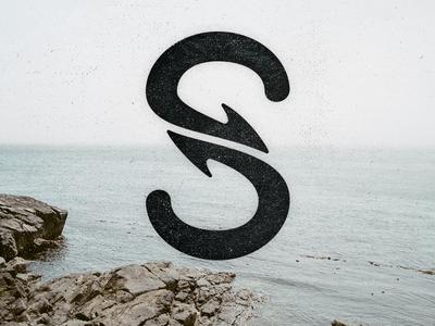 Shark S shark logo icon logo sea typework studio monogram 360 circle degree san francisco sf