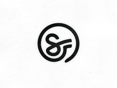 SF Monogram - another version monogram san francisco sf gregree circle icon 360 typework studio