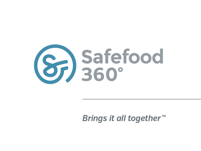 Safefood 360˚ Final Logo and tagline food food safety management brand logo icon typography tagline