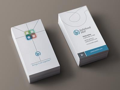 Safefood 360 Business Card safefood 360 business card brand identity logo design minimal design stationery