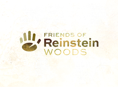 Friends Of Reinstein Woods lily pad hand icon logo brand identity conservation