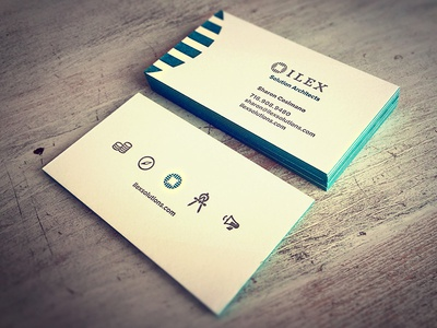 ilex Letterpress business cards letterpress business cards branding edge-painted edge painted edge painting