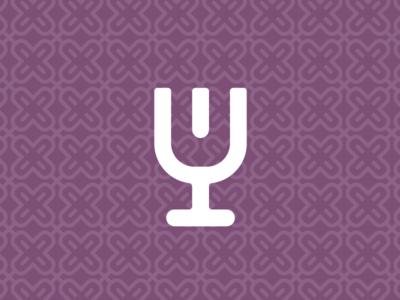 Tasting Wine brand logo wine tongue pattern icon