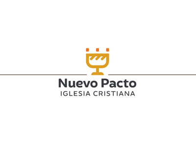 New Covenant Christian Church spanish logo icon crown christian communion cup bread bread and cup identity brand logo