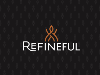 Refineful Soap Brand Logo pattern typography custom typography icon logo soap brand soap logo