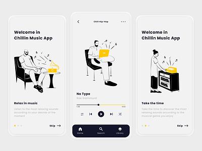 Music App - Mobile Design flatdesign illustration minimal clean figma music apple music apple deezer spotify mobile app mobile app flat design ui ux ux design ui design