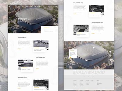 Redesign Real Madrid Website minimal flat illustration branding website app web ux ui design