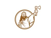 Clovis warrior logo