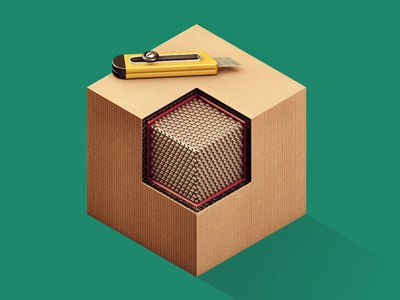 Inside the Box 3d c4d illustration box cardboard isometric
