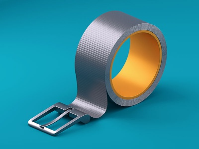 There, I fixed it cycles4d fix tape duct food weight belt fasting illustration c4d 3d