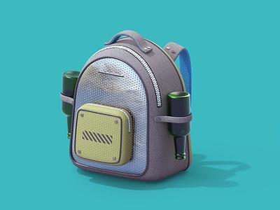 Jetpack model render beer jetpack pack illustration 3d