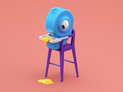 Happy New Year! character baby year new illustraion c4d 3d