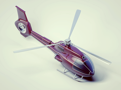 Helicopter isometric helicopter 3d