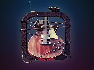 Gibson Les Paul 3d c4d guitar gibson icon