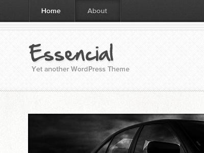 Essencial WordPress Theme black white textures