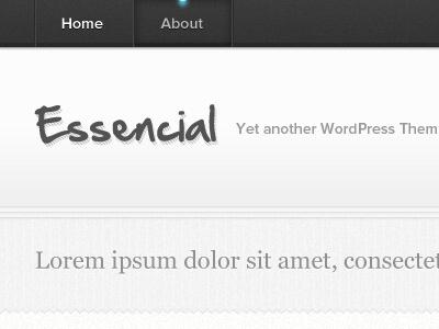 Essencial - Lights On texture black white wordpress light