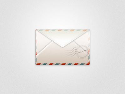 Envelope envelope texture gradient red blue