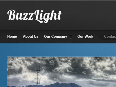 Some header and banner wordpress blue