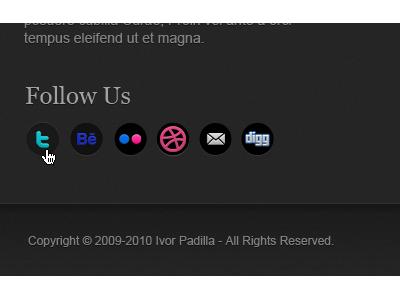 Social Icons [Footer] social icons dark