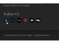 Social Icons [Footer]