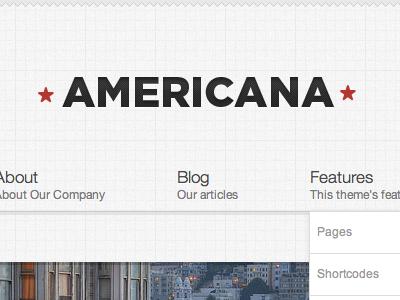 Americana wordpress clean theme css3