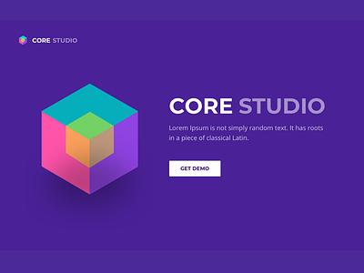 3D cube logo 3d ui sketch vector minimal website web design app cube logo concept 3dlogo logo