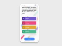 Mobile app design for exam - light theme