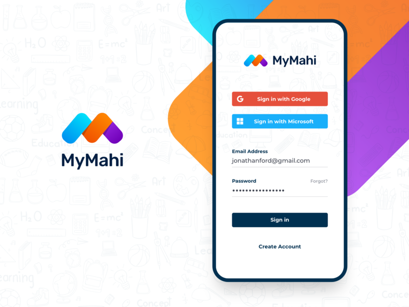 MyMahi Login ux uidesign education mobile app mobile ios creative ui creativedreams app minimal design minimal app ui mobile ui-design ui  ux design mobile app design signin login