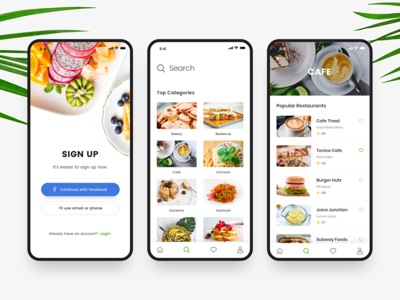 Food App iOS fresh design mobile mobile app design ui mobile ui-design ux  ui food app ios