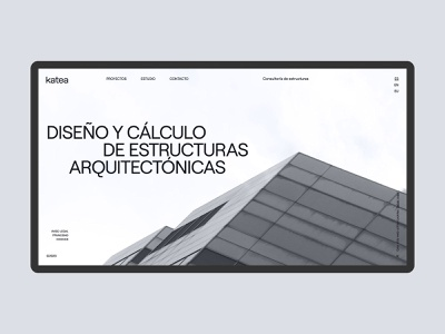 Web Katea - Home grid layout consulting minimal arquitecture home web design website web