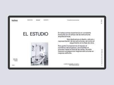 Web Katea - About page grid layout minimal consulting arquitecture about web website web design