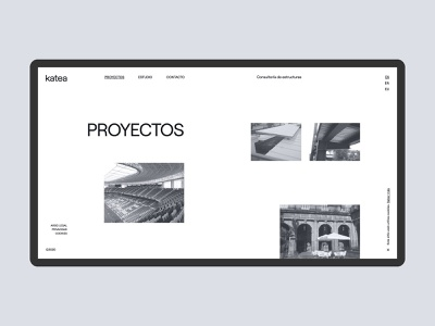 Web Katea - Projects page portfolio design website webdesign web minimal projects portfolio grid layout consulting arquitecture