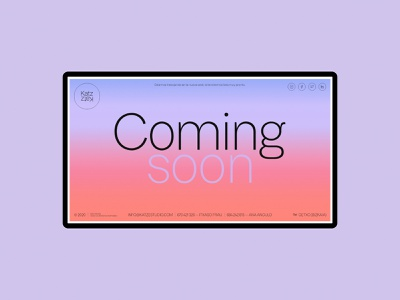 (WIP) Katz Estudio website is coming soon coming soon web design work in progress sunrise gradient
