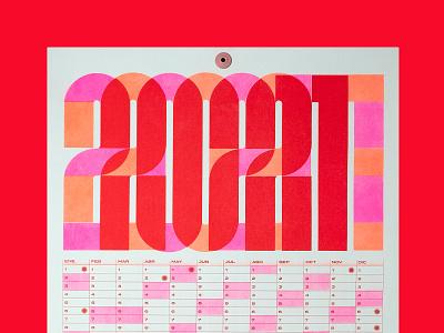 Riso calendar 2021 poster art risoprint redesign risograph design risography riso calendar poster