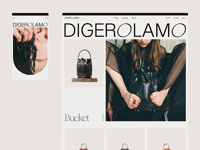 Digerolamo website shop leather bags ecommerce website web design