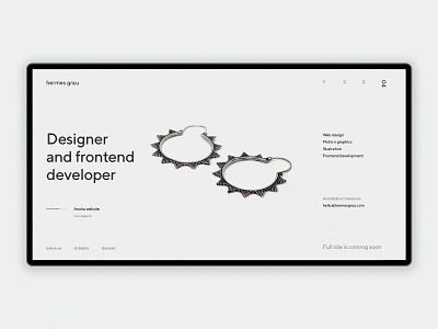 hg coming soon 4 debuts portfolio coming soon page ui web design
