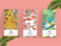 Chocolate series illustrations.