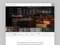 Ginza Website Design